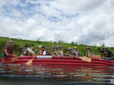 Eボートで日野川中流域の今昔を散策