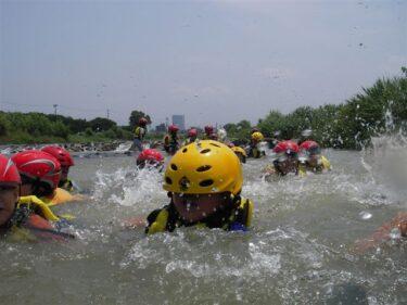 子どもの水辺安全講座@犀川(金沢市内)