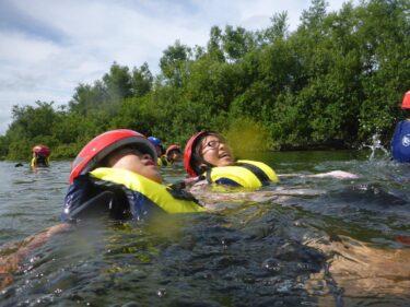 鯖江の川で「遊ぼう学ぼう河原へGO!」